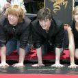 Emma Watson, Daniel Radcliffe et Rupert Grint à Los Angeles le 9 juillet 2007.
