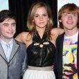 Emma Watson, Daniel Radcliffe et Rupert Grint à New york le 9 juillet 2009