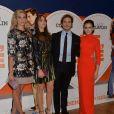 """Tasmin Egerton, Suki Waterhouse, Sam Claflin et Lily Collins - Première du film """"Love, Rosie"""" à Londres le 6 octobre 2014."""