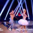 """Brian Joubert et Katrina Patchett - Troisième prime de """"Danse avec les stars 5"""" sur TF1. Le vendredi 10 octobre 2014."""