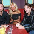 Christophe Dugarry, Cathy Guetta et Vincent Candela aux Bains à Paris le 6 octobre 1999.