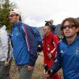 Christophe Dugarry et Vincent Candela le 9 mai 2002 à Tignes