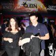 Exclusif - Béatrice Dalle et son nouvel amoureux Eddy ont passé la soirée jusqu'à 4h du matin au Queen le 29 septembre 2014.