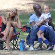 Heidi Klum et son ex-mari Seal emmènent leur enfants Leni, Henry, Johan et Lou jouer au football à Brentwood, le 4 octobre 2014.