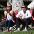 Heidi Klum et son petit ami Vito Schnabel assistent au match de football des enfants de Heidi à Los Angeles, le 27 septembre 2014.