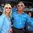 Heidi Klum et Flavio Briatore, père biologique de sa fille Leni, au Grand prix de Monaco le 1er juin 2003.