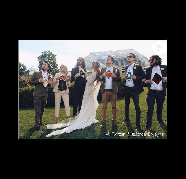 Eric Lampaert (Mon incroyable fiancé) et son épouse Jordan Dwayne, lors de leur mariage en octobre 2014.