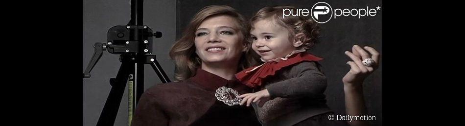 Céline Sallette et sa fille Alice lors d'un shooting en novembre 2011.