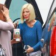 Tori Spelling fait du shopping avec sa fille Stella à Encino, le 20 septembre 2014.