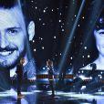 EXCLUSIF - Rising Star 2014. Larry et Léo lors du Prime 5 de Rising Star diffusé sur M6, a la cité du Cinéma a Saint-Denis, France le 23 octobre 2014.