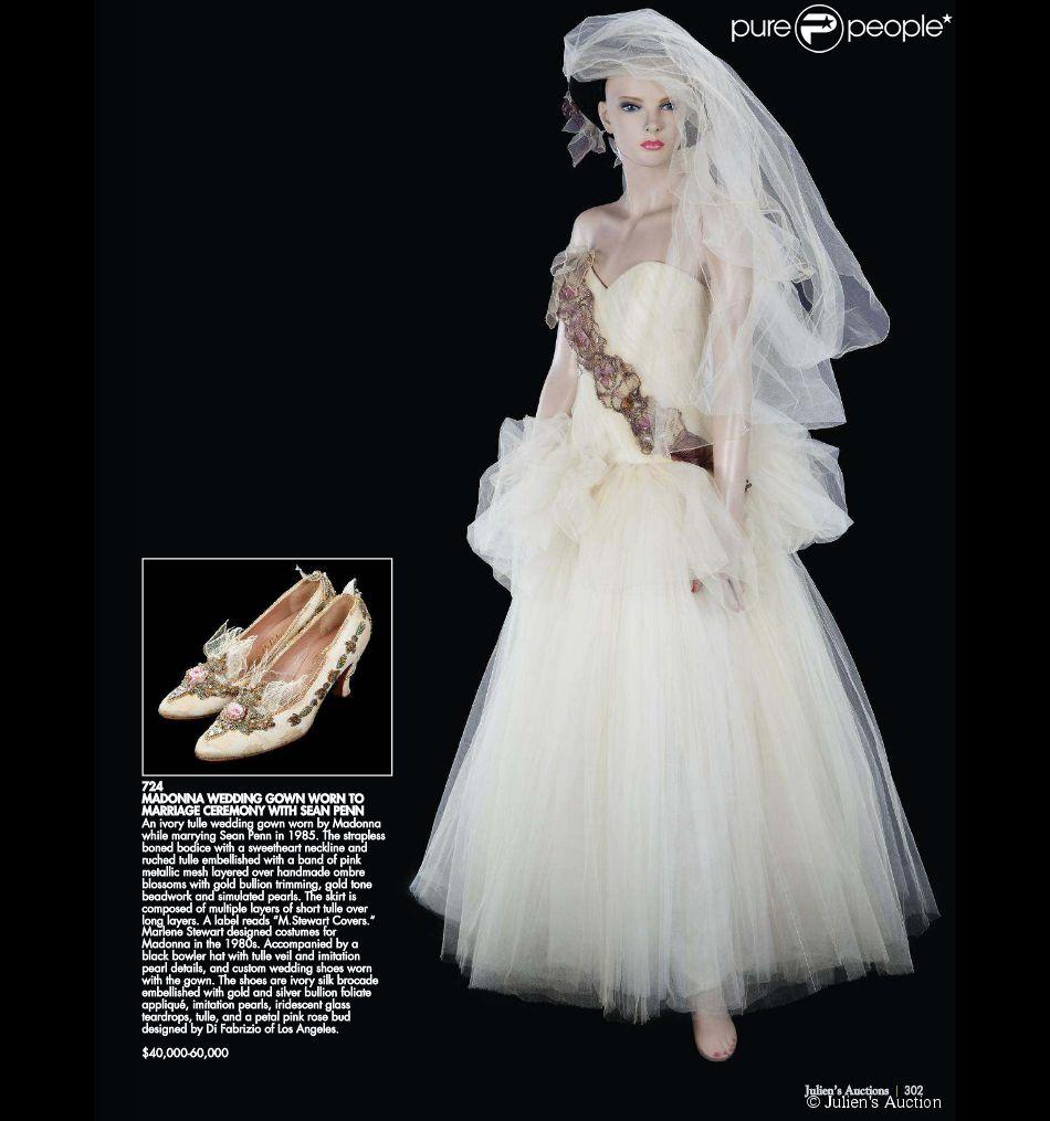Madonna : La robe de son mariage avec Sean Penn refait ...