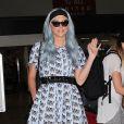Kesha arrive à l'aéroport de LAX à Los Angeles, le 25 juillet 2014.