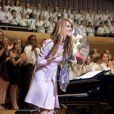 Céline Dion lors d'un concert de charité, à Montréal, le 16 juillet 2014