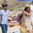 Neymar en vacances à Formentera avec sa compagne Bruna, dans les Baléares, le 26 juillet 2014.
