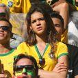 Bruna Marquezine, petite amie de Neymar, assiste au match Brésil contre Chili à Belo Horizonte city, le 28 juin 2014
