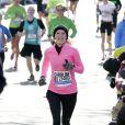 Caroline Wozniacki lors du marathon de New York, le 2 novembre 2014 à New York