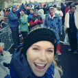 Caroline Wozniacki lors du marathon de New York, le 2 novembre 2014