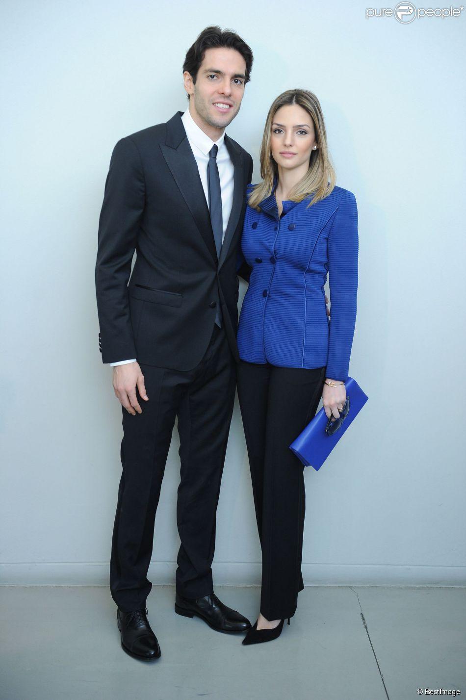 Ricardo Kaka et sa femme Caroline Celico à Milan le 24 février 2014.