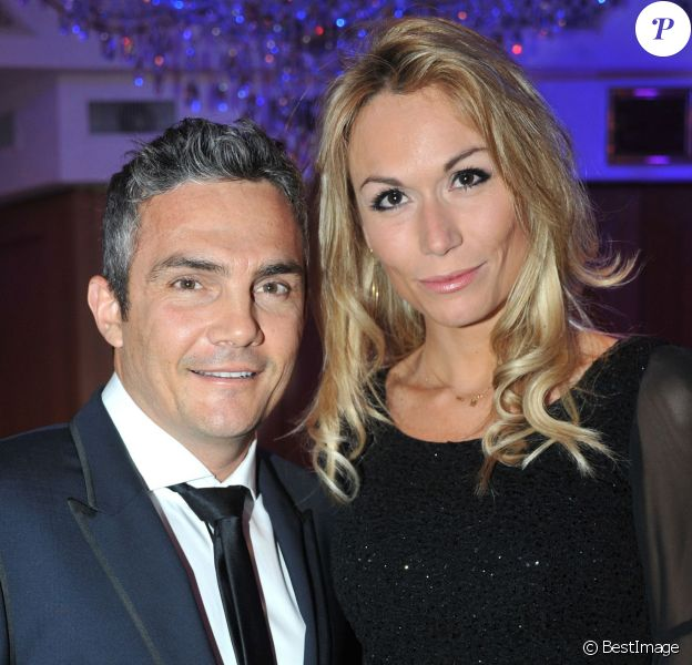 Richard Virenque et sa compagne Marie-Laure lors des Best Awards 2013 à Paris, le 16 decembre 2013. Le couple a eu le 3 octobre 2014 son premier enfant, un fils prénommé Eden.