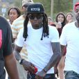 Lil Wayne assiste à la journée caritative organisée par Chris Brown à Glendale, le 19 juillet 2014.