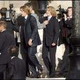 Le mariage de Jean Sarkozy : le marié suivi par son frère Pierre