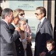 Le mariage de Jean Sarkozy : Patrick Balkany et son épouse Isabelle, Andrée Sarkozy et son fils François Sarkozy