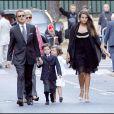 Le mariage de Jean Sarkozy : arrivée de François Sarkozy avec ses enfants