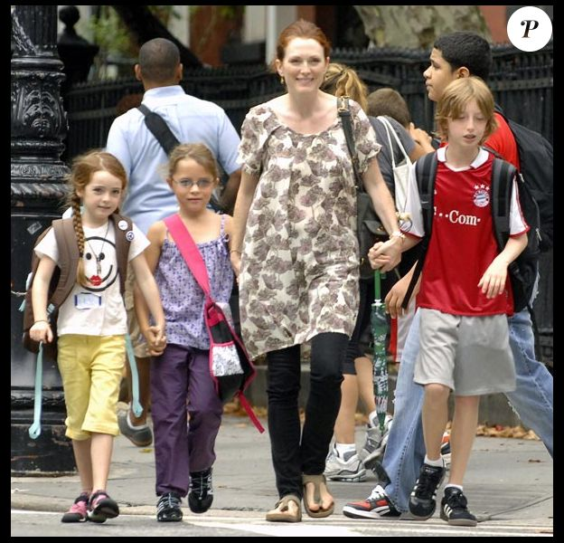 Julianne Moore et sa tribu