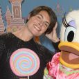 Alessandra Sublet assiste au lancement des festivités de Noël à Disneyland Paris, à Marne-la-Vallée, le samedi 15 novembre 2014.