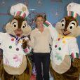Anne-Sophie Lapix assiste   au lancement des festivités de Noël à Disneyland Paris, à Marne-la-Vallée, le samedi 15 novembre 2014.