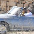 """Exclusif - Brad Pitt et Angelina Jolie, pendant le tournage de """"By the sea"""" sur l'île de Gozo à Malte le 9 novembre 2014."""