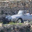 Angelina Jolie et Brad Pitt tournent By The Sea à Malte le 9 novembre 2014.