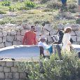 Angelina Jolie et Brad Pitt en plein tournage de By The Sea à Malte le 9 novembre 2014.