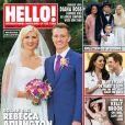 """Rebecca Adlington en couverture du magazine """" Hello !""""  du 15 septembre 2014."""