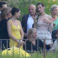 Mariage de Eros Ramazzotti et Marica Pellegrinelli à la Villa Sparina à Monterotondo di Gavi, Italie, le 21 juin 2014.