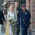 """Exclusif - Mariage de l'actrice américaine Piper Perabo avec le réalisateur et scénariste américain Stephen T. Kay au """"Merchants House Museum"""" à New York le 26 juillet 2014."""