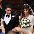 Elisabetta Canalis et Brian Perri lors de leur mariage à Sassari en Sardaigne, le 14 septembre 2014.