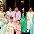 Image de la cérémonie d'acte de mariage du prince Moulay Rachid du Maroc et d'Oum Keltoum Boufares en juin 2014 à Rabat.