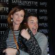 """Sophie Ferjani enceinte et Norbert Tarayre - Inauguration du restaurant """"Saperlipopette!"""" de Norbert Tarayre (Top Chef 3) à Puteaux, le 17 novembre 2014"""