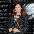 """Sophie Fejrani, enceinte - Inauguration du restaurant """"Saperlipopette!"""" de Norbert Tarayre (Top Chef 3) à Puteaux, le 17 novembre 2014"""