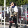 Exclusif - Nicole Richie, son mari Joel Madden et leur fils Sparrow à Los Angeles, le 19 novembre 2014.