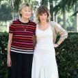Marisa Borini et sa fille Valeria Bruni-Tedeschi à Rome, le 22 octobre 2013