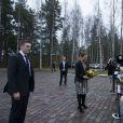 La princesse Victoria de Suède en Finlande, à Hanasaari, le 27 novembre 2014 pour le Future Forum 2014.