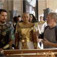 """"""" Christian Bale et Joel Edgerton face à Ridley Scott sur le tournage d'Exodus - Gods and Kings """""""