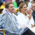 La princesse Madeleine et Chris O'Neill se sont fait tremper lors de l'anniversaire de la princesse Victoria de Suède à Borgholm le 14 juillet 2014