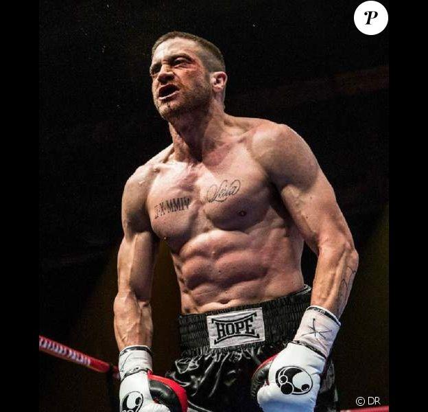 Jake Gyllenhaal dans Southpaw, transformé en boxeur.