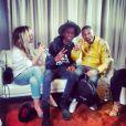 """Enora Malagré et Stéphane Bak ont interviewé Pharrell Williams pour l'émission """"Enora, le soir"""", diffusée sur Virgin Radio. Le 24 février 2014"""