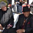 Joe Jackson passe du temps avec Dieter Wiesner, ancien manager de Michael Jackson, à Cannes, en mai 2011