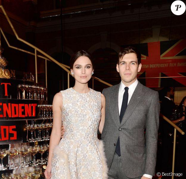 Keira Knightley et son mari James Righton - Cérémonie des British Independent Film Awards à Londres, le 7 décembre 2014.