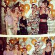Jack Antonoff pose avec Taylor Swift à sa fête d'anniversaire, le 12 décembre 2014